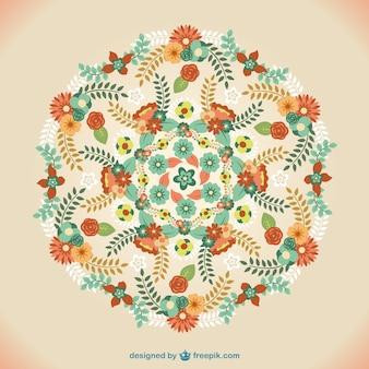 Wektor kwiatowy ornament mandali