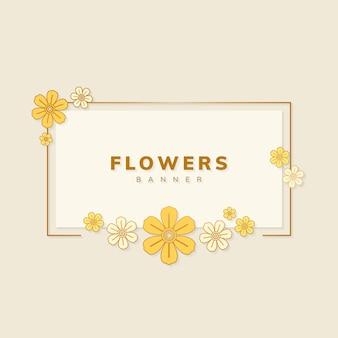Wektor kwiatowy transparent
