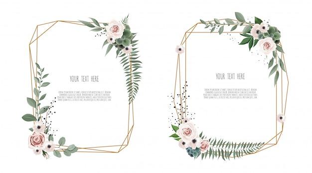 Wektor kwiatowy wzór karty botanicznej
