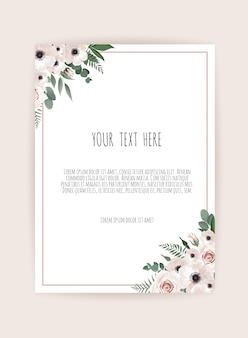 Wektor kwiatowy wzór karty