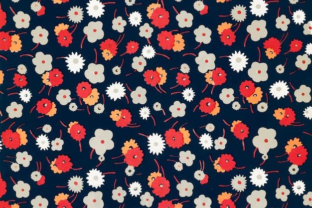 Wektor kwiatowy wzór tła, zremiksowany z dzieł autorstwa charlesa goy