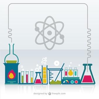 Wektor laboratorium chemii