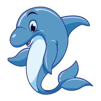 Wektor ładny kreskówka delfin
