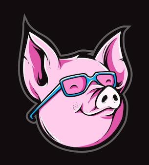 Wektor ładny świnia