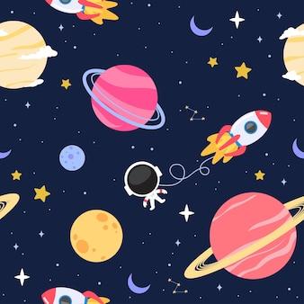 Wektor ładny wzór tła przestrzeni kosmicznej
