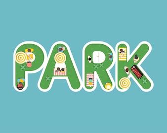 Wektor lato czuć projekt z słowo parkiem