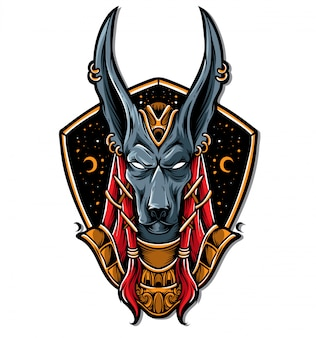 Wektor logo anubis