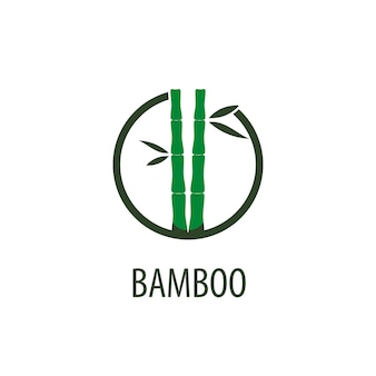 Wektor logo bambusa