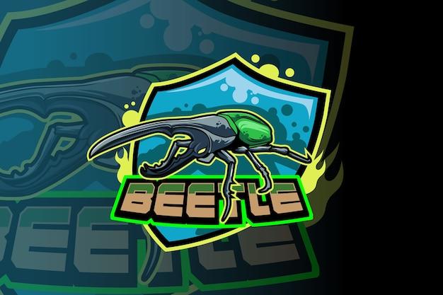 Wektor logo beetle squad e sport