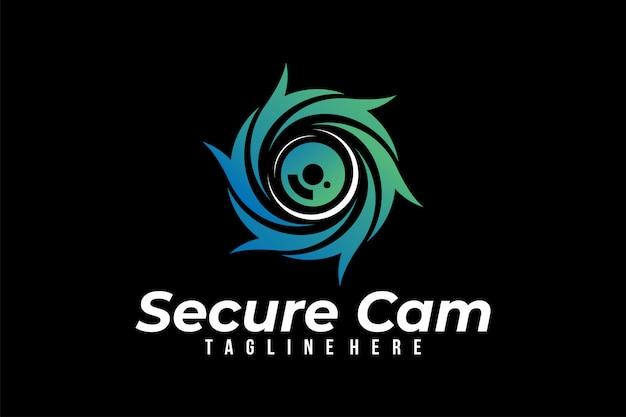 Wektor logo bezpiecznej kamery