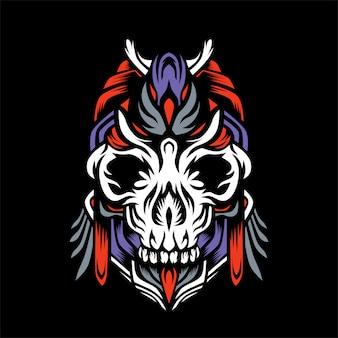 Wektor logo czaszki