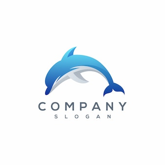 Wektor logo delfin