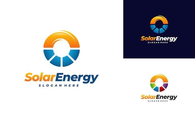 Wektor logo energii słonecznej, logo energii słonecznej sun
