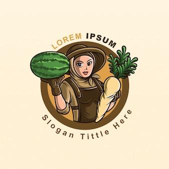 Wektor logo farmy świeży