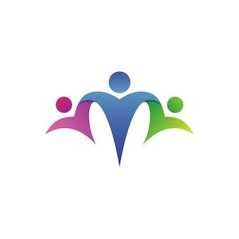 Wektor logo fundacji opieki rodzinnej