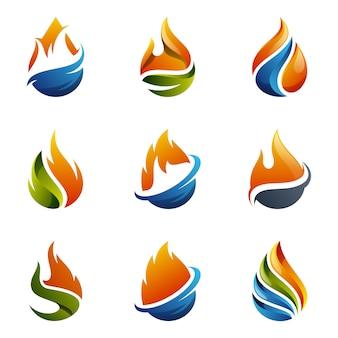 Wektor logo gazu ziemnego