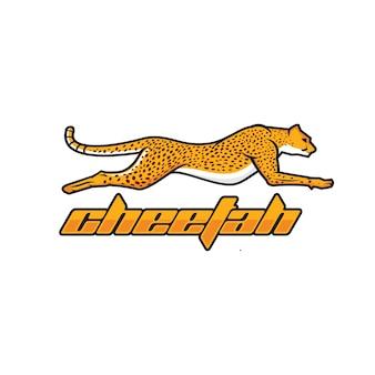 Wektor logo geparda