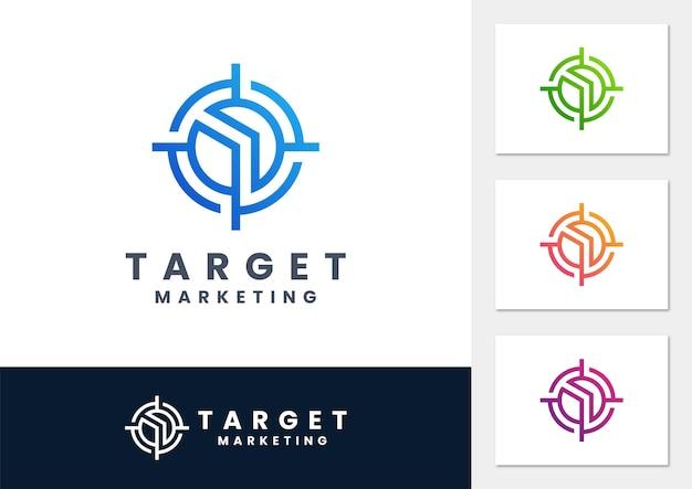 Wektor logo gradientu celu biznesowego