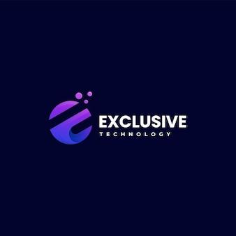 Wektor logo ilustracja ekskluzywny gradient kolorowy styl