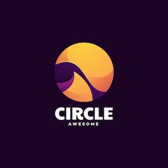 Wektor logo ilustracja koło gradient kolorowy styl