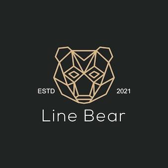 Wektor logo ilustracja linia niedźwiedź