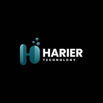 Wektor logo ilustracja litera h gradient kolorowy styl