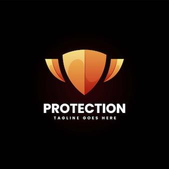 Wektor logo ilustracja ochrony gradient kolorowy styl