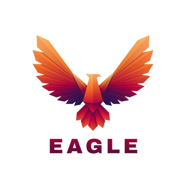 Wektor logo ilustracja orzeł gradient kolorowy styl.