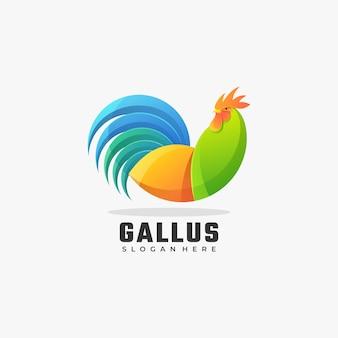 Wektor logo ilustracja rooster gradient kolorowy styl.