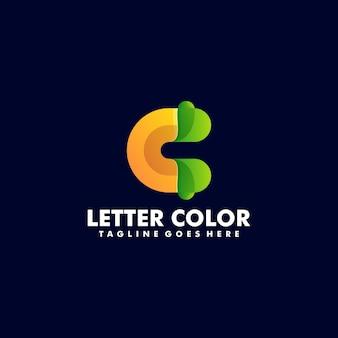 Wektor logo ilustracja streszczenie list gradientu kolorowy styl.