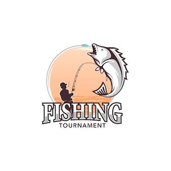 Wektor logo ilustracja turniej wędkarski