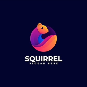 Wektor logo ilustracja wiewiórka gradient kolorowy styl