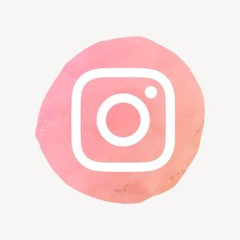 Wektor logo instagram w akwareli. ikona mediów społecznościowych. 21 lipca 2021 - bangkok, tajlandia
