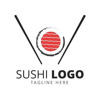 Wektor logo japońskiego jedzenia sushi