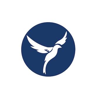 Wektor logo koło ptaka