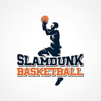 Wektor logo koszykówki, premium sylwetka wektor