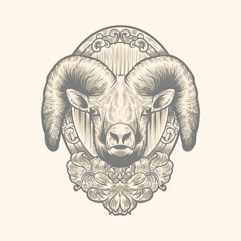Wektor logo kozy