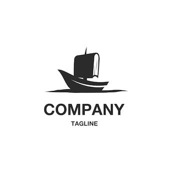 Wektor logo książki żeglarskiej