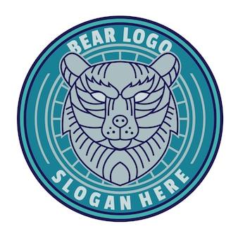 Wektor logo linii niedźwiedzia