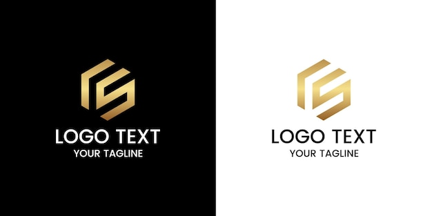 Wektor logo litery cs