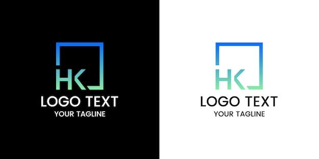 Wektor Logo Litery Hk Premium Wektorów