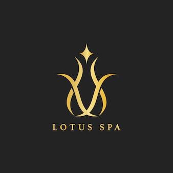 Wektor logo lotosu spa