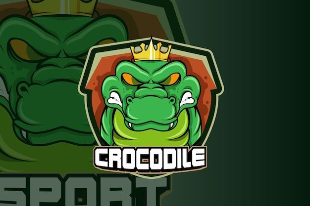 Wektor logo maskotka krokodyl