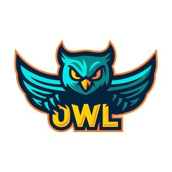 Wektor logo maskotka sowa