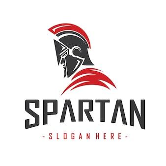 Wektor logo maskotka spartan warrior