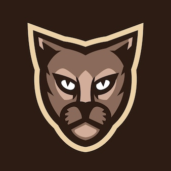 Wektor logo maskotki głowy pantery
