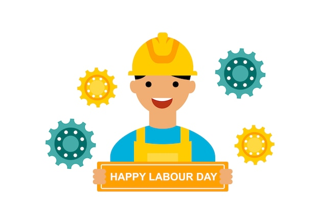 Wektor logo międzynarodowego dnia pracy