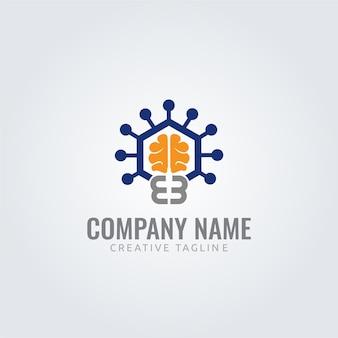 Wektor logo moc mózgu