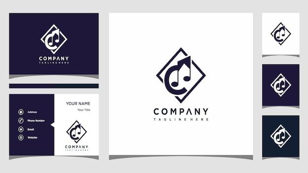 Wektor logo muzyka litera c premium wektorów