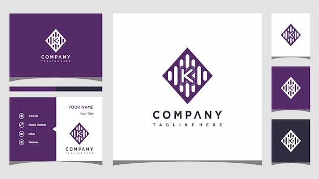 Wektor logo muzyka litera k premium wektorów
